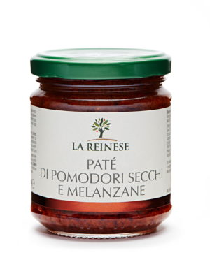 Dried tomato and aubergine paté in sunflower oil
