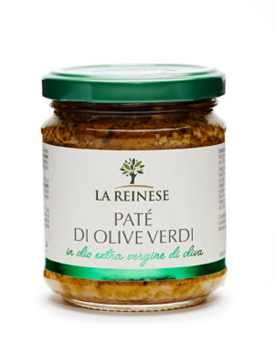 Green olive paté in extra virgin olive oil